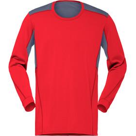 Norrøna M's Falketind Super Wool Shirt Crimson Kick